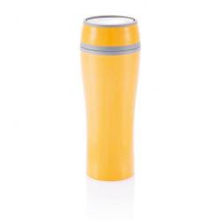 Loooqs, Termohrnek dvouplášťový, 400 ml, oranžová