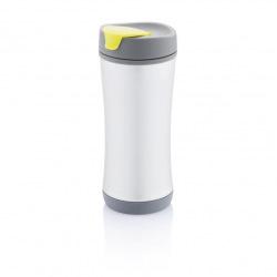 Recyklovatelný termohrnek Boom ECO, 225 ml, XD Design, šedý/limetkový