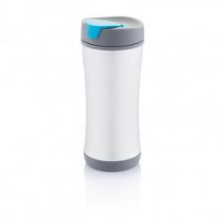 XD Design, Cestovní termohrnek Boom ECO, 225 ml, modrá