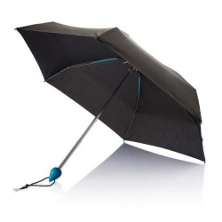 Skládací deštník Droplet, XD Design, modrá rukojeť