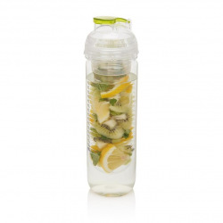 Loooqs, 500 ml, láhev s košíkem na ovoce, zelená
