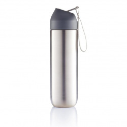 XD Design, Neva, sportovní nerezová láhev, 500 ml, šedá