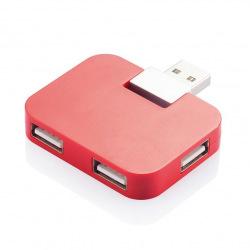 Externí USB hub 4 port, Loooqs, červený