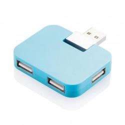 Externí USB hub 4 port, Loooqs, modrý