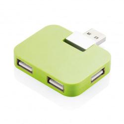 Externí USB hub 4 port, Loooqs, zelený