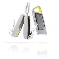 XD Design, Tovo Set, sada solární svítilny a multifunkčních kleští, šedá
