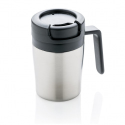 Termohrnek Coffee to Go do kávovaru s ouškem, 160 ml, XD Design, stříbrný