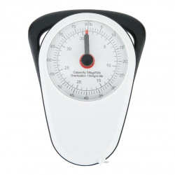 Loooqs, Retro analogová závěsná váha do 35 kg, bílá