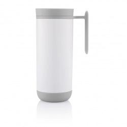 XD Design, Clik, nepropustný termohrnek s madlem, 225 ml, bílá